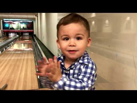 Oliver bowls at the White House (Truman Bowling Alley)