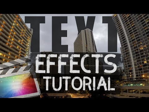 Final Cut Pro X Title Effects Tutorial | AWESOME Title Intro Ideas!