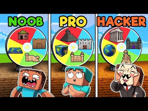 Minecraft - MYSTERY WHEEL! (NOOB vs PRO vs HACKER)