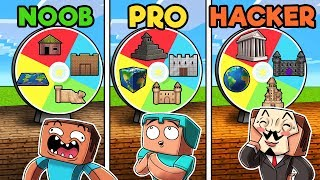 Minecraft - MYSTERY WHEEL! (NOOB vs PRO vs HACKER)