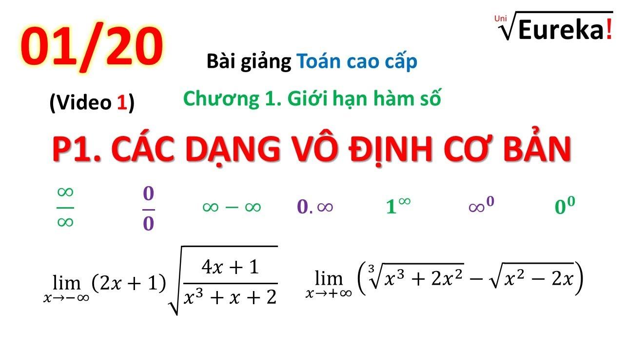 Chương 1. Giới hạn hàm số – P1: Các dạng vô định cơ bản – Các kỹ thuật tính giới hạn (1)
