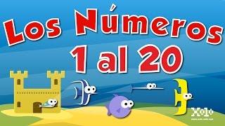 Los números del 1 al 20 en español para niños - Videos Aprende