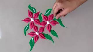Beautiful attractive and Very Easy  Rangoli Design for everyday || Daily Rangoli ||