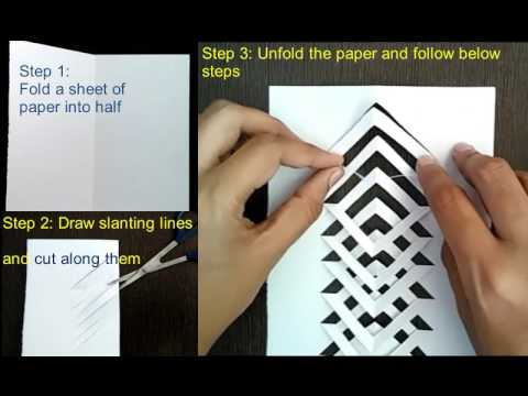 Kirigami tutorial : How to make kirigami : Easy and simple Kirigami