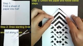 Kirigami tutorial : How to make kirigami : Easy and simple Kirigami