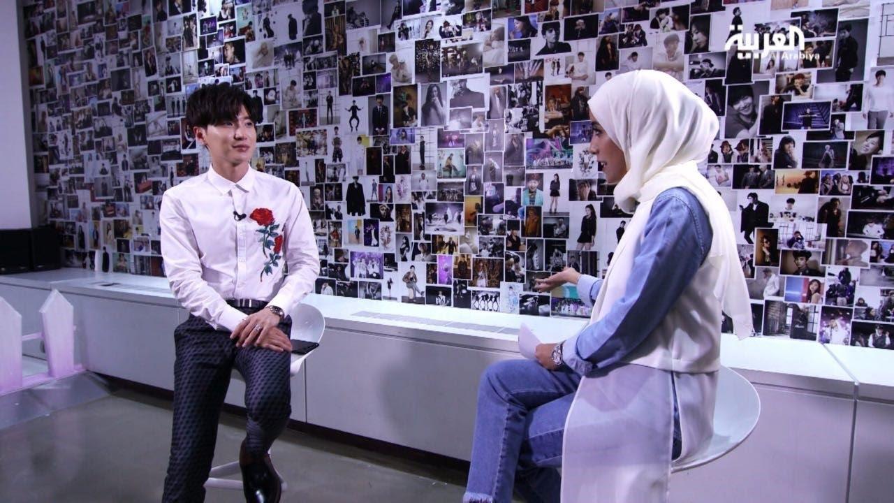 نتيجة بحث الصور عن لقاء العربية مع Leeteuk قائد فرقة Super Junior
