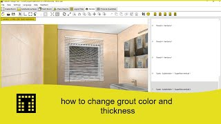 How to change grout color and thickness