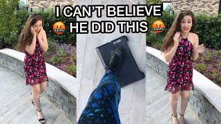 HE BROKE HER LAPTOP 😭THROW IT CHALLENGE 😱