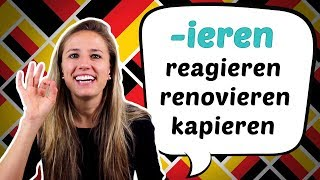 The super easy GERMAN PERFECT of verbs with -ieren