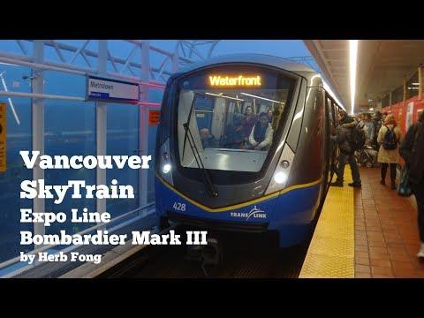 Vancouver SkyTrain: ride on Bombardier Mark III (Innovia Metro 300) set 425/428 on the Expo Line!