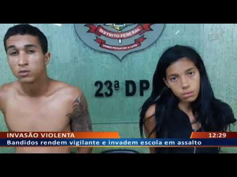 DF ALERTA -  Bandidos rendem vigilante e invadem escola em assalto