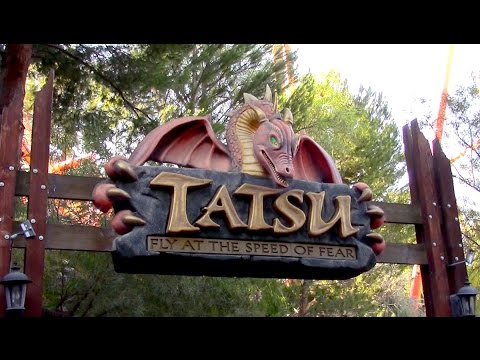 Tatsu Review Six Flags Magic Mountain B&M Flying Coaster