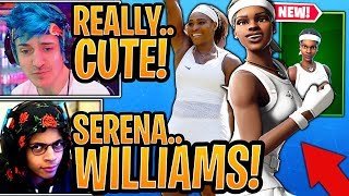 "Streamers reagir ao * novo * Serena Williams ""MATCH POINT"" pele! -Momentos de Fortnite"
