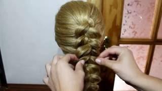 Французская коса наизнанку Обратная для новичков Плетение косичекс