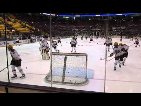 MN Golden Gophers Hockey Team Warm up From Behind Goal (Video 1) - October 16, 2015