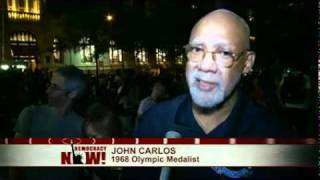Civil Rights Pioneer, Olympic Medalist John Carlos & Dave Zirin at Occupy Wall Street