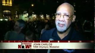 Civil Rights Pioneer, Olympic Medalist John Carlos & Dave Zirin at Occupy Wall Street