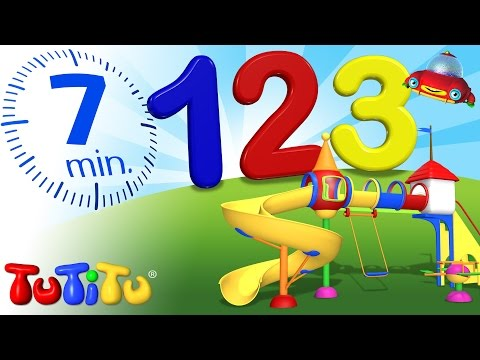 TuTiTu Pré-escola   Contando os numeros de 1 a 10 em Inglês   123 Recreio