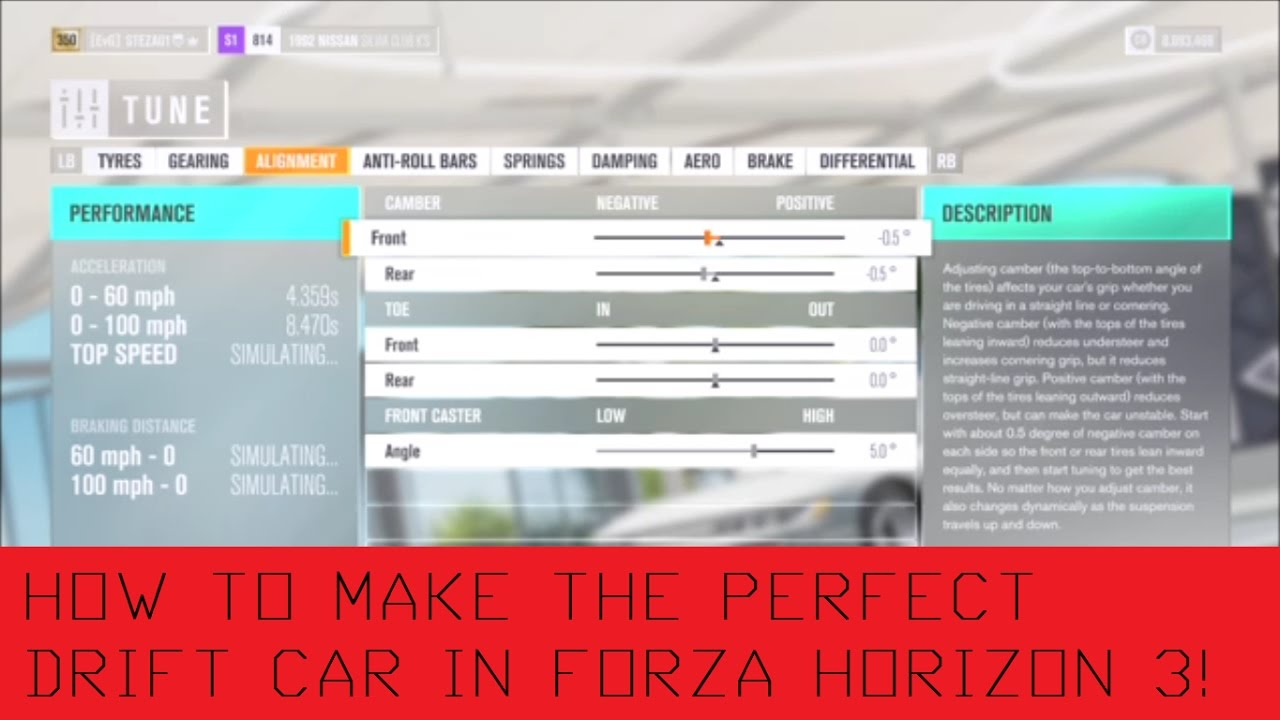 forza horizon 3 how to create the perfect drift setup tune tutorial guide youtube. Black Bedroom Furniture Sets. Home Design Ideas