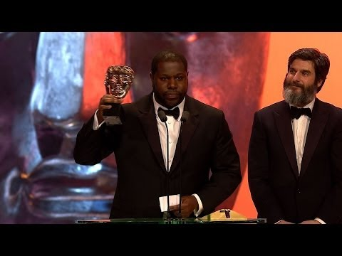 12 Years a Slave wins Best Film Bafta: Steve McQueen - The British Academy Film Awards 2014 - BBC