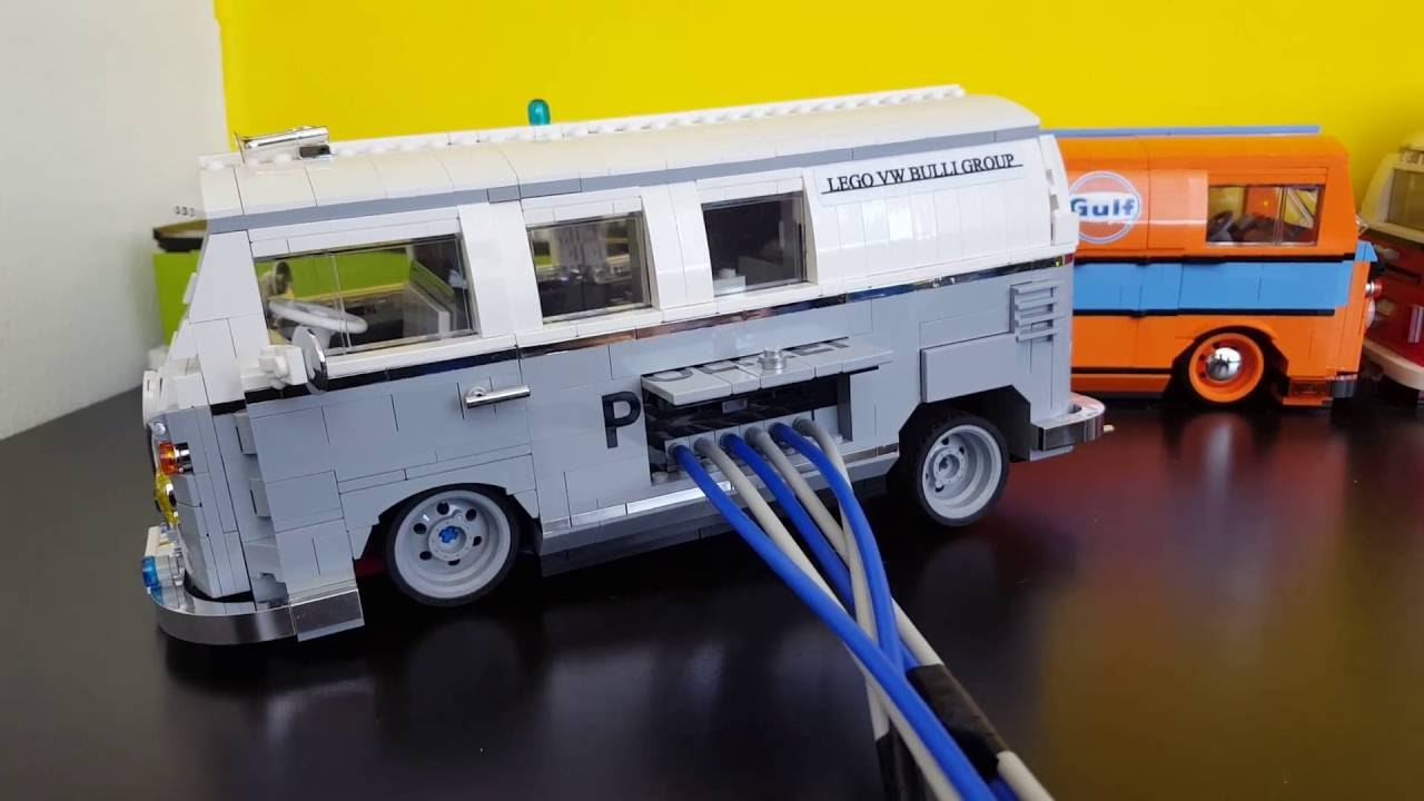 lego 10220 vw t1 bulli air suspension pneunatic youtube. Black Bedroom Furniture Sets. Home Design Ideas