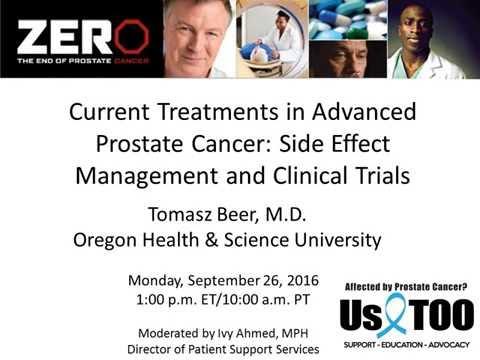 WEBINAR: Current Treatments in Advanced Prostate Cancer
