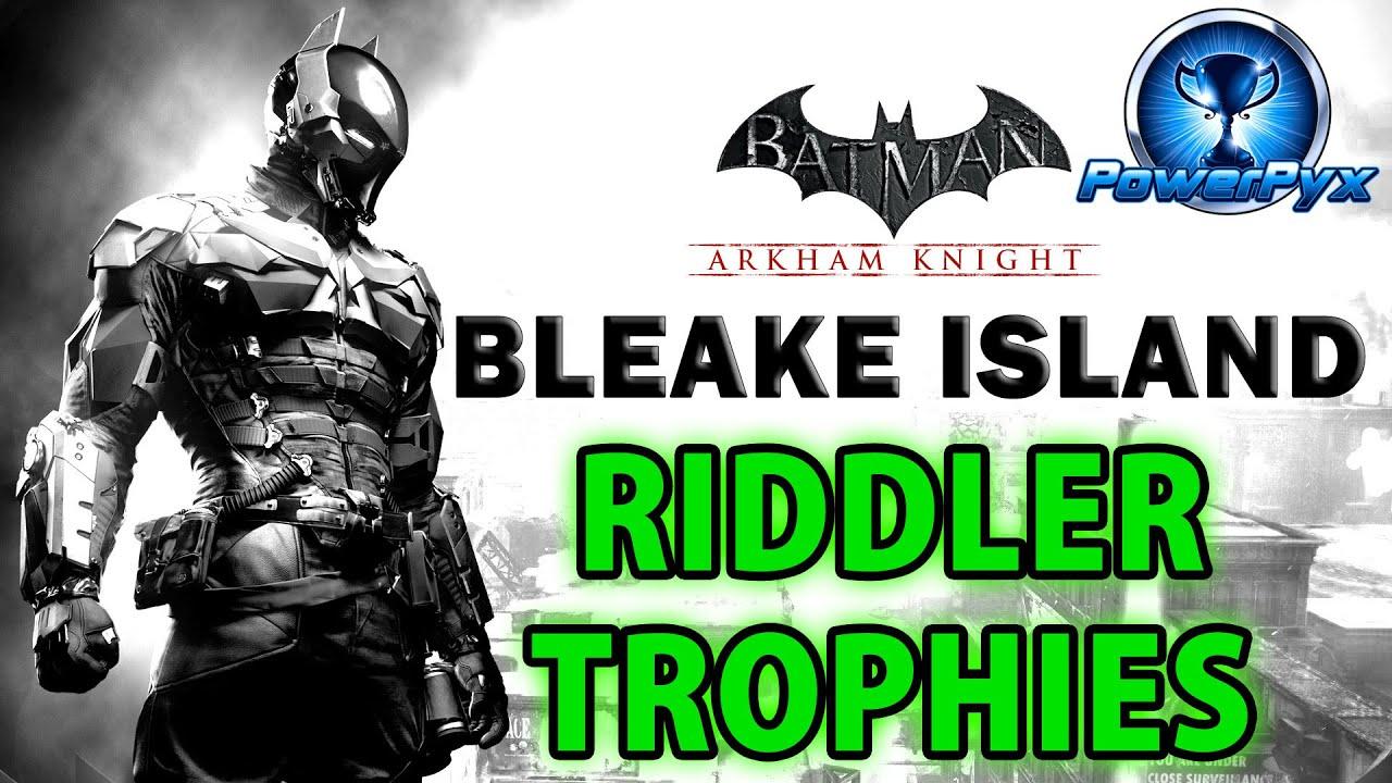 batman arkham knight riddler trophäen