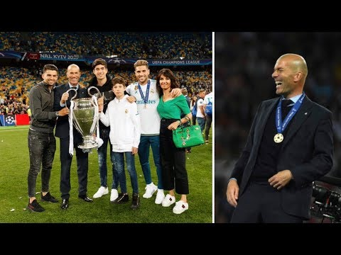 Zinedine Zidane all family in Kiev after winning 13 Cup UEFA for Real Madrid