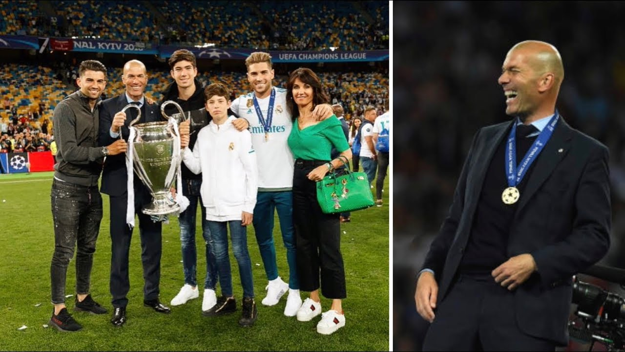 9e9e8648d Zinedine Zidane all family in Kiev after winning 13 Cup UEFA for Real Madrid