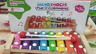 Wooden Xylophone Musical Toy With 8 Notes For Kids : Feature And Live Demo