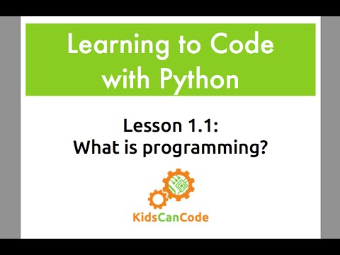 Learning To Code With Python Lesson