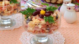 Салат с копчёной колбасой 'Мужская мечта'