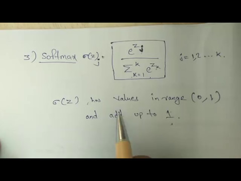 Activation function in Neural network
