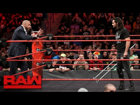 Thumbnail: Will Seth Rollins return in time for WrestleMania? Not if Triple H has a say: Raw Feb. 27, 2017