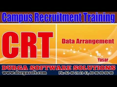 Campus Recruitment Training (CRT) | Aptitude| Data Arrangement by yasar