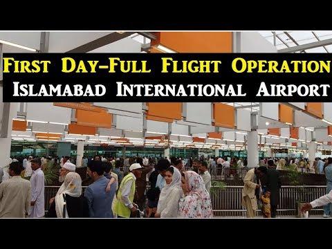 First day - Full Flight Operation at New Islamabad International