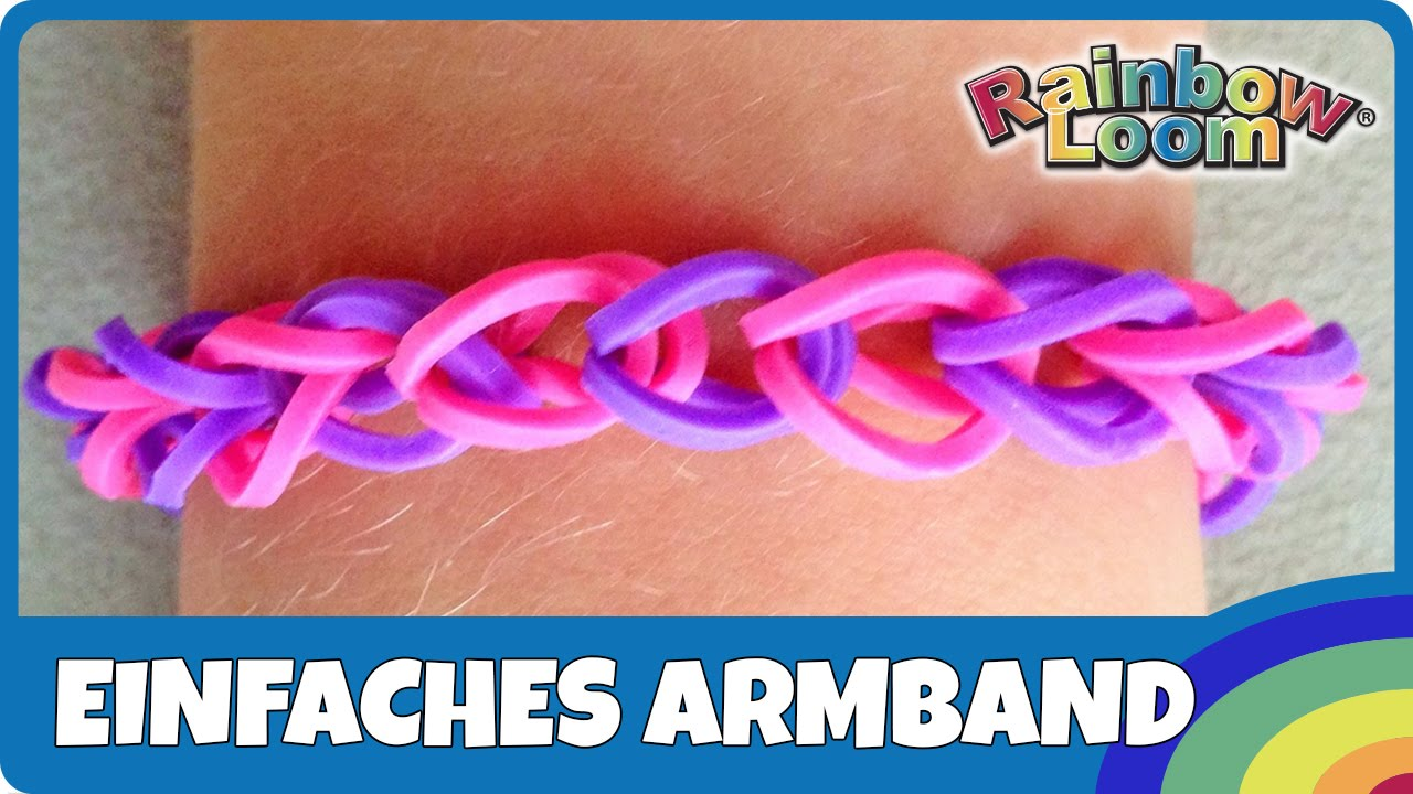 mein erstes rainbowloom armband deutsche anleitung anf nger armband youtube. Black Bedroom Furniture Sets. Home Design Ideas