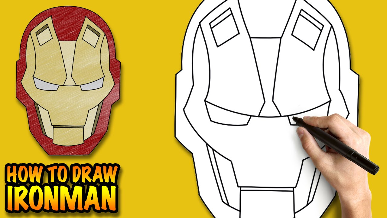 how to draw ironman easy step by step drawing tutorial youtube