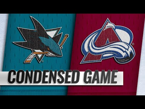 01/02/19 Condensed Game: Sharks @ Avalanche