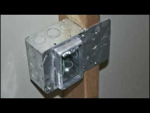 How To Install Electrical Boxes On Steel Studs: Installing RACO Stud Mount Mud Rings - YouTuberh:youtube.com,Design