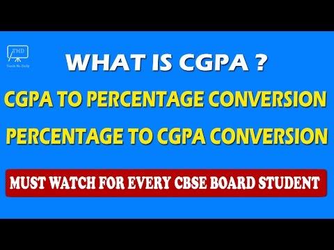 CGPA   Convert CGPA to Percentage and Percentage to CGPA - For CBSE Board Students - In Hindi