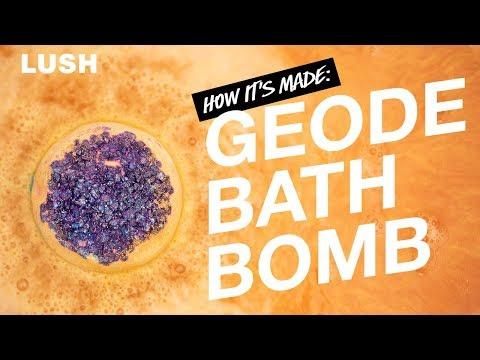 Lush How It's Made: Geode Bath Bomb