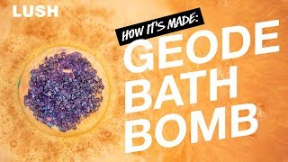Lush How It's Made: Geode Bath Bomb