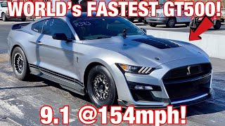 1ST DRAG PACK 2020 GT500 SETS WORLD RECORD 1/4 MILE!