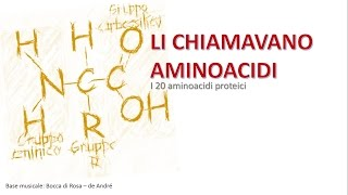 Repeat youtube video AMINO ACID SONG - Li chiamavano aminoacidi