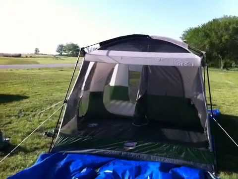 Our new tent 2rooms 10u0027 x 15u0027 and 7u00272u0027 tall LED lighted. & Our new tent: 2rooms 10u0027 x 15u0027 and 7u00272u0027 tall LED lighted. - YouTube