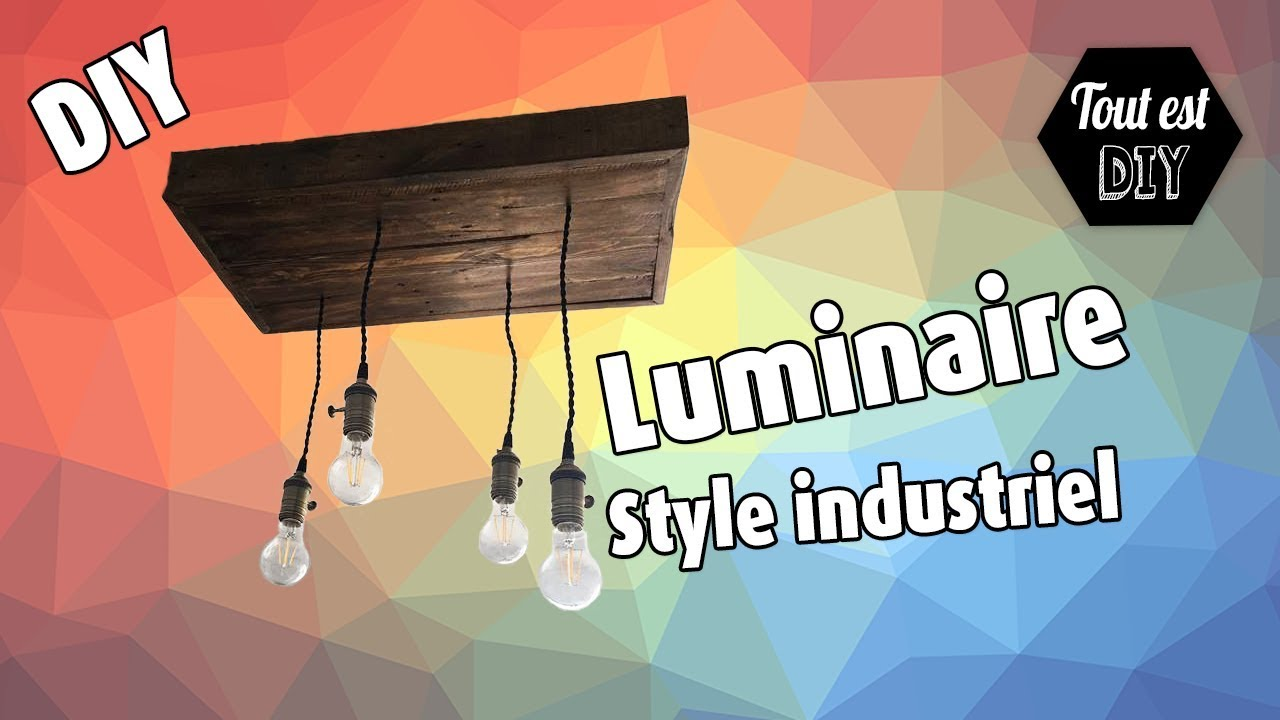 Fabrication Dun Lustre Industriel Youtube