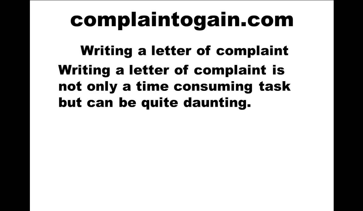 Writing a complaint letter youtube writing a complaint letter altavistaventures Choice Image