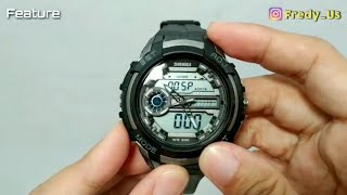 SPORTS WATCH SKMEI 1202 THREE TIME DISPLAY FULL REVIEW SETUP