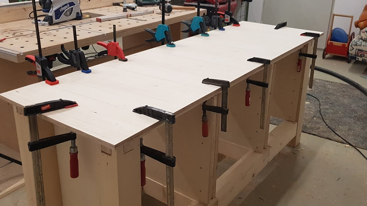 diy werkstatt tisch einfache werkbank selber bauen youtube. Black Bedroom Furniture Sets. Home Design Ideas